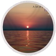 Sea Quote - Cousteau Round Beach Towel