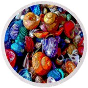 Sea Shell Abstract Round Beach Towel