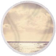 Sea Sparkle Round Beach Towel
