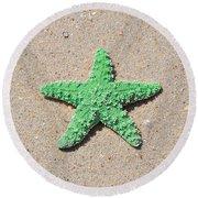 Sea Star - Green Round Beach Towel by Al Powell Photography USA