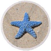 Sea Star - Light Blue Round Beach Towel