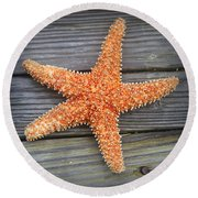 Sea Star On Deck 2 Round Beach Towel