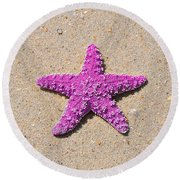 Sea Star - Pink Round Beach Towel