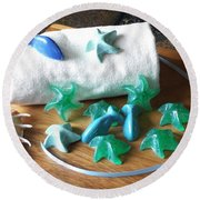 Sea Stars Mini Soap Round Beach Towel