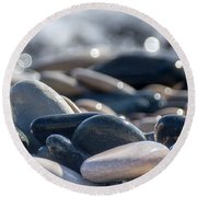 Sea Stones  Round Beach Towel