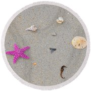 Sea Swag - Pink Round Beach Towel