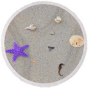 Sea Swag - Purple Round Beach Towel
