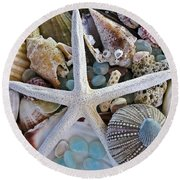 Sea Treasure Round Beach Towel
