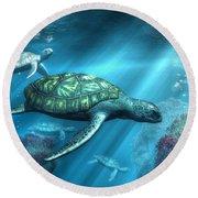 Sea Turtles Round Beach Towel
