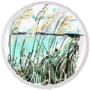 Sea View Round Beach Towel