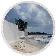 Sea Wall Round Beach Towel