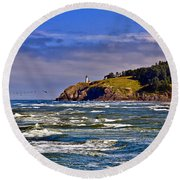 Seacape Round Beach Towel by Robert Bales
