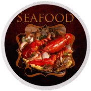 Seafood Gallery Round Beach Towel