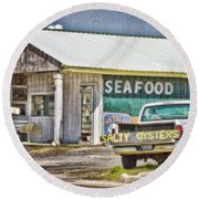 Seafood Round Beach Towel
