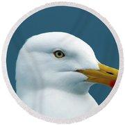 Seagull I Round Beach Towel