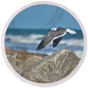 Seagull Parallel Round Beach Towel
