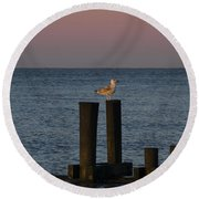 Seagull Seascape Round Beach Towel