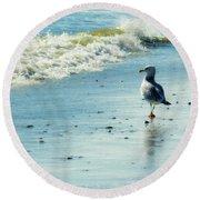 Seagull Stroll Round Beach Towel