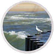 Seagull's Perch Round Beach Towel