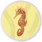 Seahorse - Right Facing Round Beach Towel