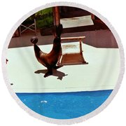 Seal And Ball Round Beach Towel