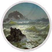 Seal Rock California Round Beach Towel