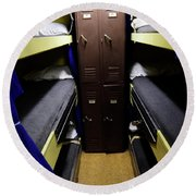 Seaman Lockers And Bunks Aboard Uss Round Beach Towel
