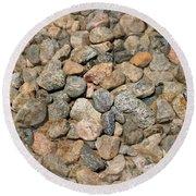 Seamless Background Gravel Stones Round Beach Towel