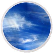 Seamless Background Sky Round Beach Towel