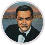Sean Connery As James Bond Round Beach Towel