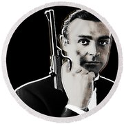 Sean Connery James Bond Square Round Beach Towel