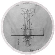 Seaplane Patent Drawing Round Beach Towel