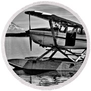 Seaplane Standby Round Beach Towel
