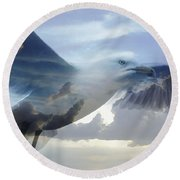 Searching The Sea - Seagull Art By Sharon Cummings Round Beach Towel