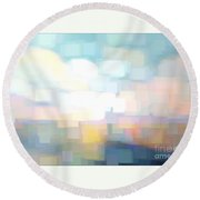 Seascape Abstracted Round Beach Towel