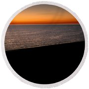 Seascape At Dawn Round Beach Towel