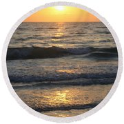 Seascape Delight Round Beach Towel