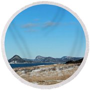 Seascape - Panorama Round Beach Towel by Barbara Griffin