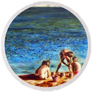 Seascape Series 3 Round Beach Towel