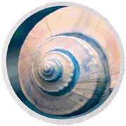 Seashell In Pastel Round Beach Towel