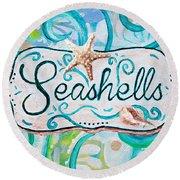 Seashells IIi Round Beach Towel
