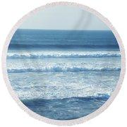 Seaside Blue Round Beach Towel