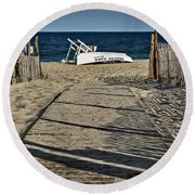 Seaside Park New Jersey Shore Round Beach Towel