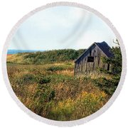 Seaside Shed - September Round Beach Towel