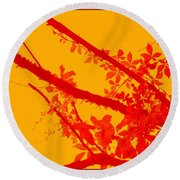 Season Of Colours Round Beach Towel