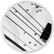 Season Of The Witch  Round Beach Towel