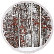 Seasons Converge Round Beach Towel