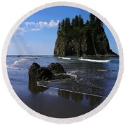 Seastack Round Beach Towel