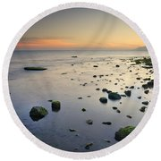 Seasunset  Dreams Round Beach Towel