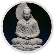 Seated Buddha Round Beach Towel